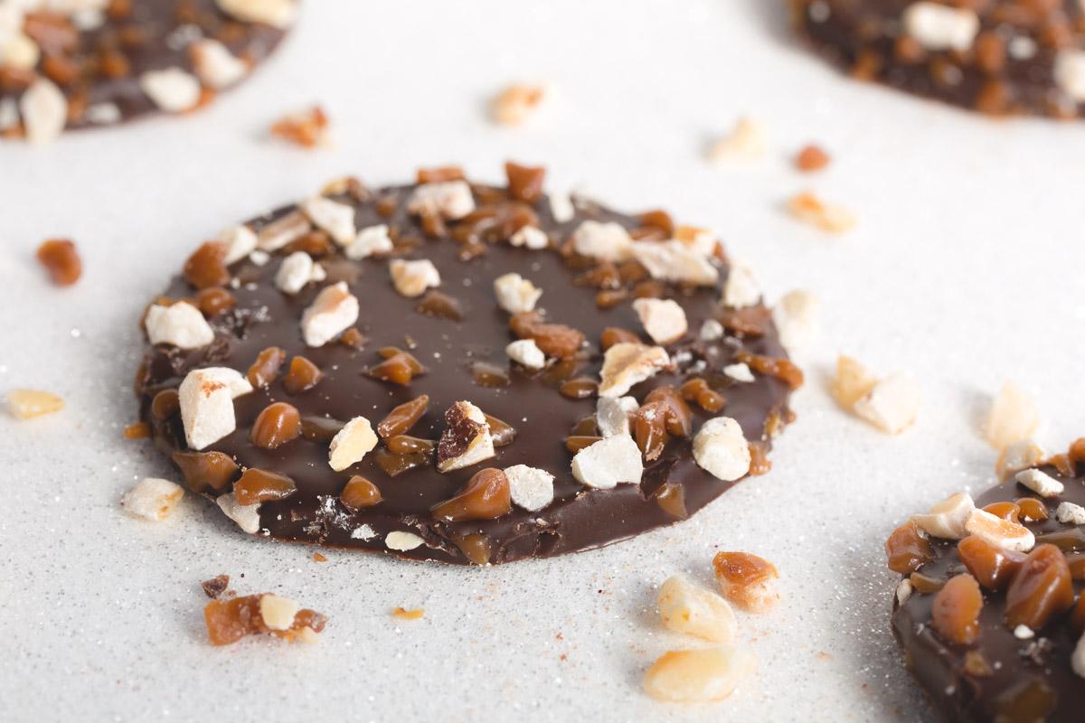 Chocolat Tuile noisette caramel